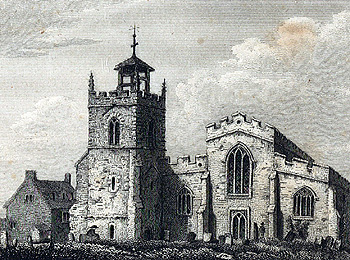 The old church from the west about 1810 [Z251/486]